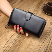 NYHED Vintage Women Long Wallet Fashion Oil Pu Purses Girls New Phone Purses