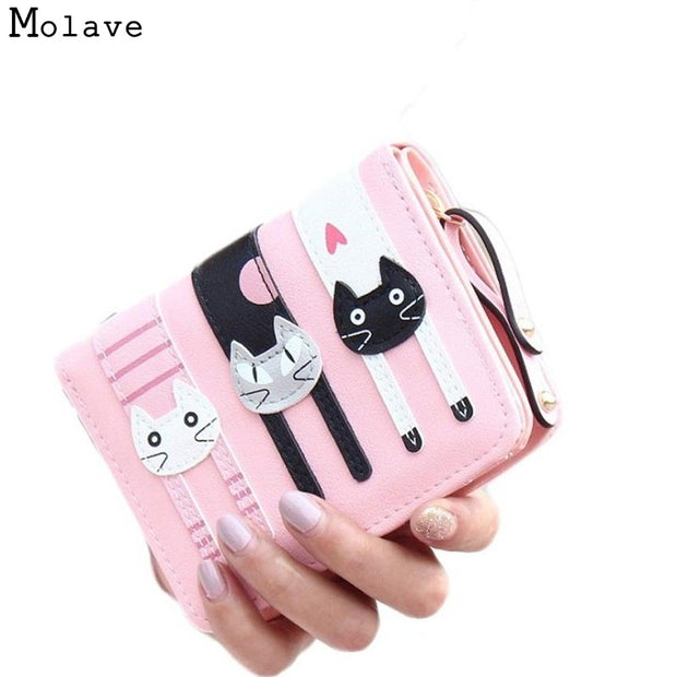 838861831 Naivety Women Short Wallet Mini Lovely Bifold PU Leather Cartoon Printing  Card Purse Monedero 28S781 Drop