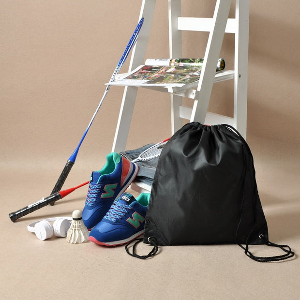 New 5 Colors Waterproof Shoes Bags Pouch Women Travel Bag Portable Drawstring Bag Organizer Backpack Sport Bag Light 45*34cm