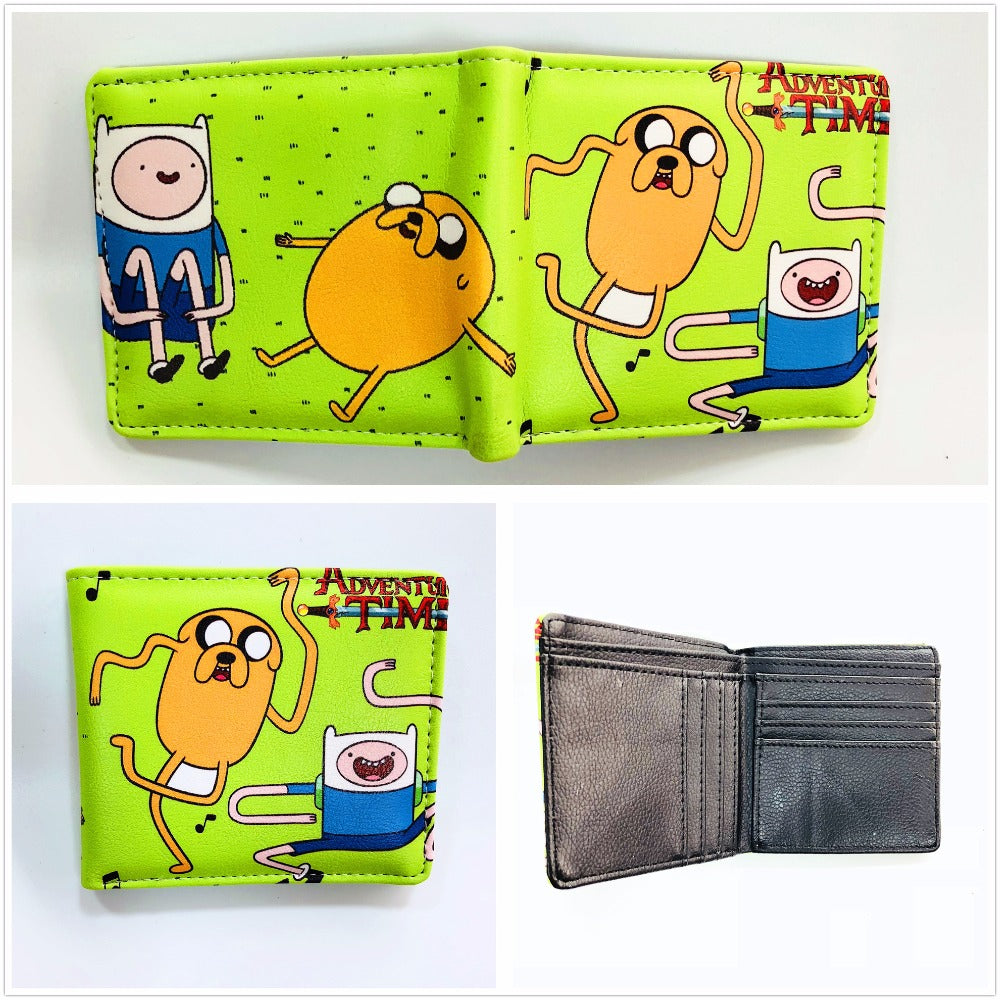 Anime Adventure Time Pictures new anime adventure time cartoon wallets for kids boy girl pu leather short  wallet cute wallet credit card holder purse w914j