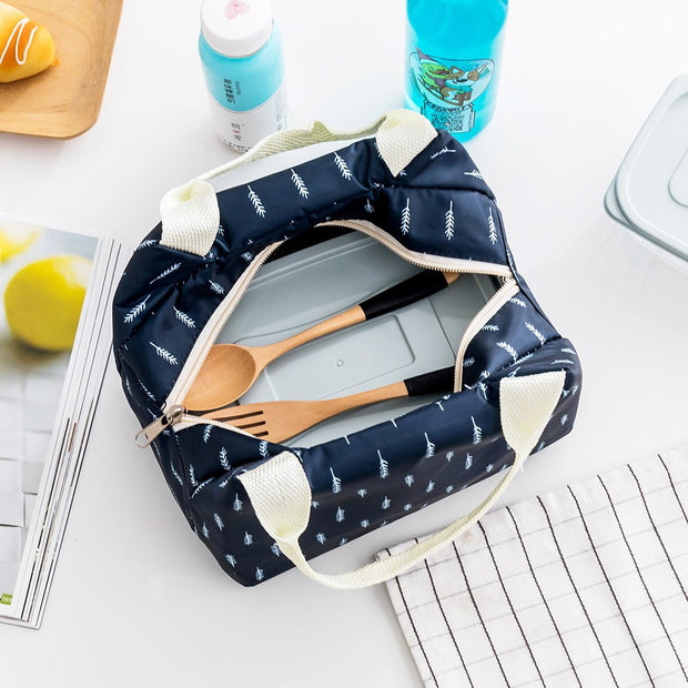 New Insulated Oxford Thermal Lunch Bag Kids School Fashion Oxford Food Storage Bag Picnic Container Tote Bag Cases 1PC