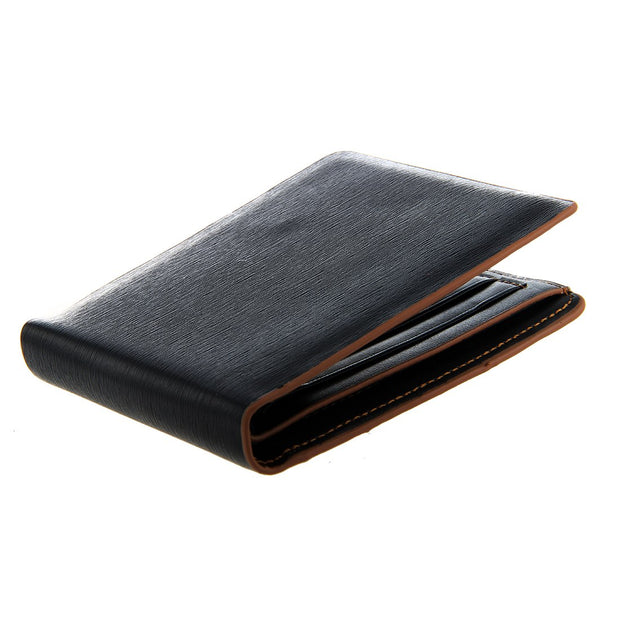New Men's Leather Bifold Credit/ID Cards Holder Slim Wallet