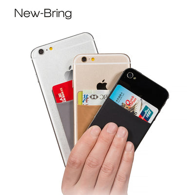 NewBring 3pcs Blocking Credit Card Organizer Cover Money Clip Case For Iphone Huawei Samsung Smartphone