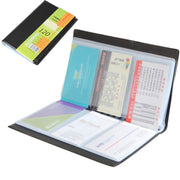 Office Antimagnetic Credit Business Card Durable Lightweight ID Holder Leather