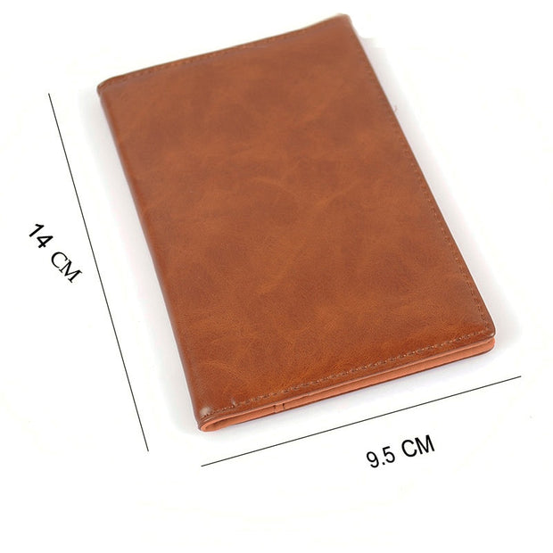 PU Leather Passport Cover Travel Business Passport Holder Minimalist Men Credit Card Holders Card Wallet