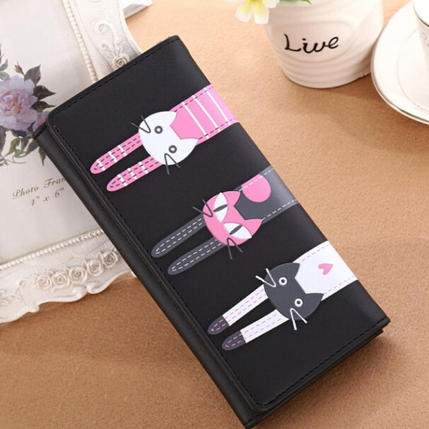 Pink Roses Lily Genuine Leather Girl Zipper Wallets Clutch Coin Phone For Women
