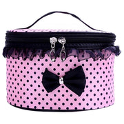 Round Point Lace Bow Cosmetic Bag