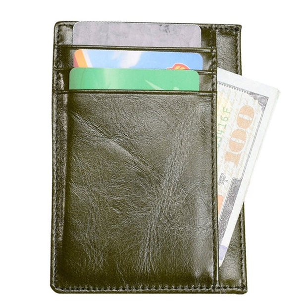 Slim Wallet RFID Front Pocket Wallet Card Wallet Minimalist Secure Thin Credit Card Holder Tarjetero Passport Cover ID Card Hold