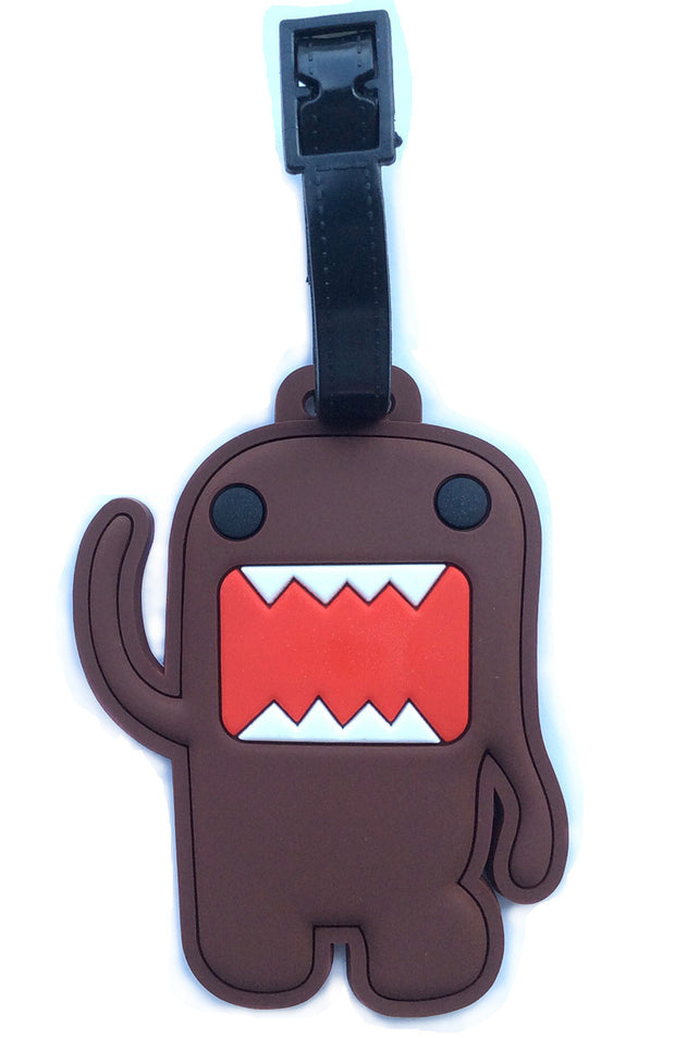 Suitcase Maletas Koffer Travel Accessories Cartoon Luggage Tag How Mo Jun Domo Kun Grinding Checked Brand Passes More Hang Tags