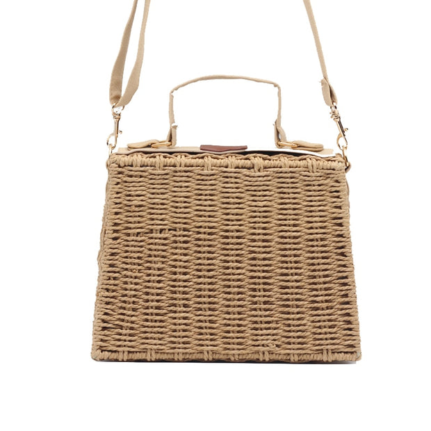 Summer Bohemian Straw Bags For Women Beach Handbags Vintage Rattan Bag Handmade Kintted Crossbody Bag 2019 New Drop Shipping
