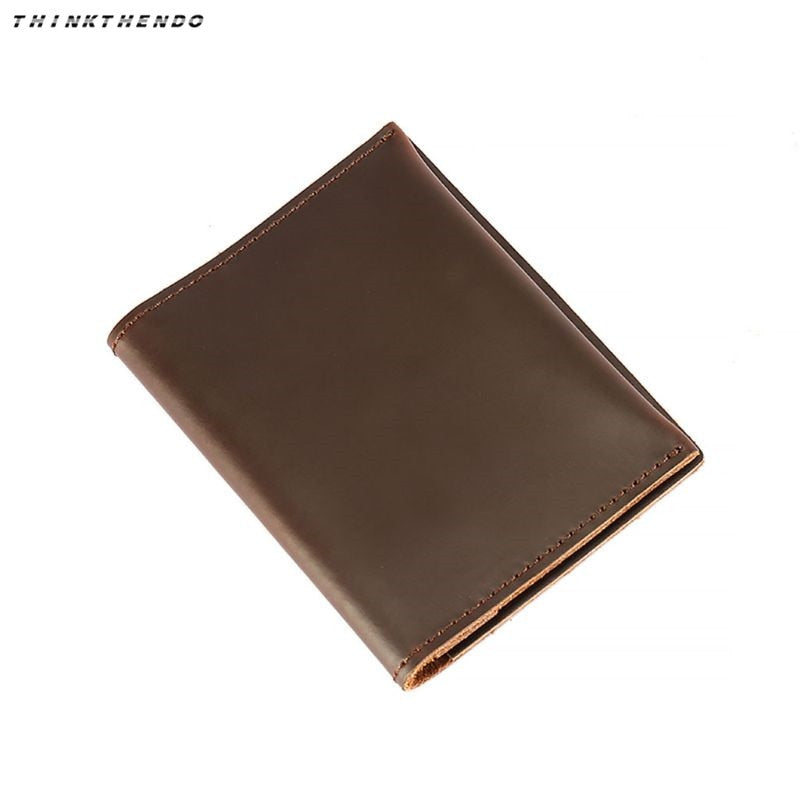 33cbfc2c3123 THINKTHENDO Fashion New Men's Retro Genuine Leather Cowhide Bifold Wallet  Multifunction ID Credit Card Coin Case Holder Purse