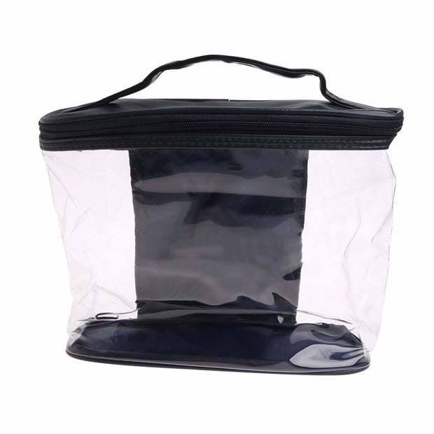 THINKTHENDO New Clear Case Cosmetic Make Up Bag Hanging Toiletry Travel Zipper Organizer