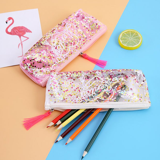 Tassels Jelly Women PVC Makeup Cosmetic Bag Zipper Make Up Student Girls Pencil Bag Pen Case Coin Money Purse Pocket Bag