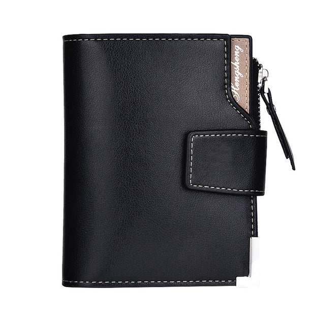 New Top 2018 Vintage Men Leather Brand Luxury A Short Easy To Use Wallet Slim