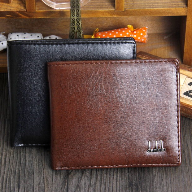 5217ccf537e0 Top 2019 Vintage Men Leather Brand Luxury Wallet Short Slim Male Purses  Money Clip Credit Card Dollar Price Portomonee Carteria