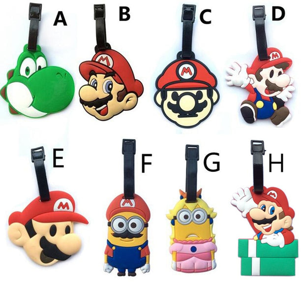 Travel Accessories Cartoon Luggage Tag Classic Game Super Mary Super Mario Super Mario Luggage Tag Tag Pendant