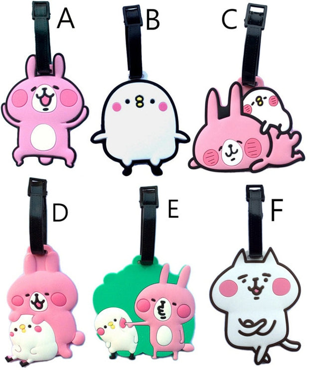 Travel Accessories Cartoon Luggage Tag Japan Kanahei Was Hera's Small Animals Checked Boarding Pass Luggage Check Luggage Tags