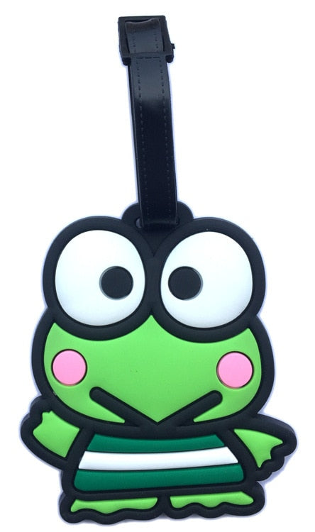 Travel Accessories Cartoon Luggage Tag Kero Kero Keroppi Check Card Boarding Pass Luggage Tag Identification Card Luggage Tags