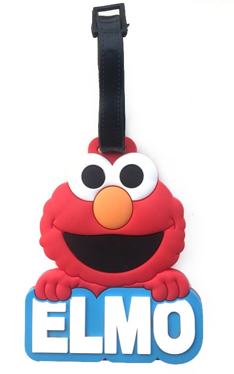 Travel Accessories Cartoon Luggage Tag Sesame Street Elmo Original Street Elmo Luggage Check Luggage Tags