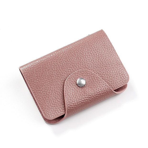 Unishow 16 Slots Card Holders Litchi Leather Women Credit Card Holders High Quality Female Business Wallet For Credit Card