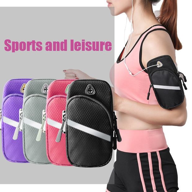 Universal Smartphone Armband Sports Running Bag Case For IPhone Samsung Waterproof Mobile Phone Earphone Key Wallets