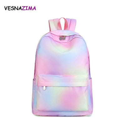 Vesnazima Simple Women Backpack Preppy Style School Bag For College Girls Fashion Women Gradual Daypacks Mochila Feminine WM714Z