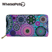 WHOSEPET Kaleidoscope Printed Women Wallet Long Style Female PU Leather Purse With Zipper And Clutch Lady Wallet Cartera Mujer