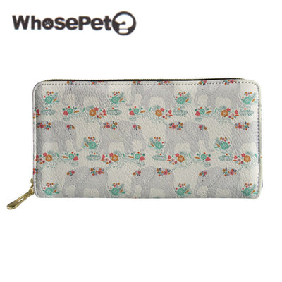 WHOSEPET Women PU Leather Wallet Female Long Purse With Zipper Lady Casual Clutch Bags 2018 New Fashion Money Bags Portefeuille