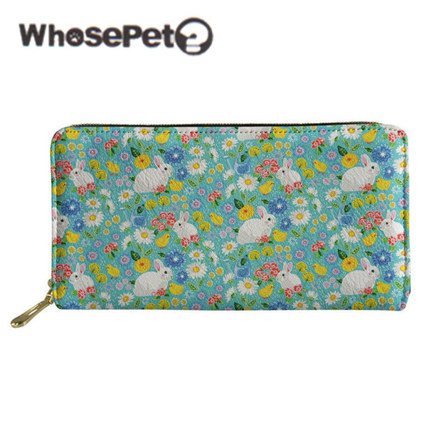 WHOSEPET Women's Purse 2018 New Fashion Female Wallet With Zipper PU Leather Long Style Wallet Card Bags Youth Lady Phone Purse