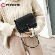 Women Messenger Shoulder Phone Bags Simple Solid Color Leather Crossbody Satchel Bag Bolsos Mujer 2019 Women Leather Handbags