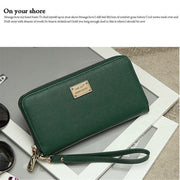 Women PU Leather Wallet Lady Card Coin Holder Long Purse Clutch Zipper Bag Wa