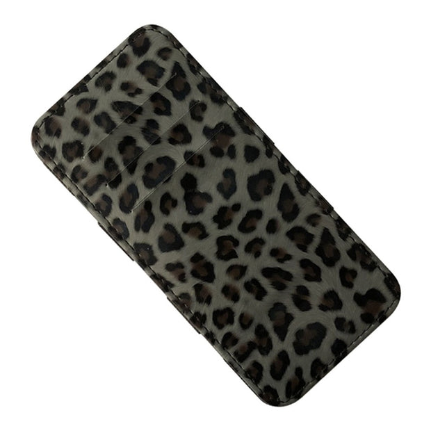 Women Wallet Flip Wallet Thin Card Package Leopard Wallet Purse Capacity Jan29