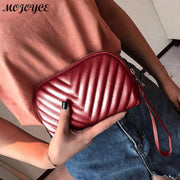 Women Wristband Casual Wallet Solid Color Leather Wave Pattern Long Style Ladies Coin Zippered Purse Women Clutches Bag Bolsas