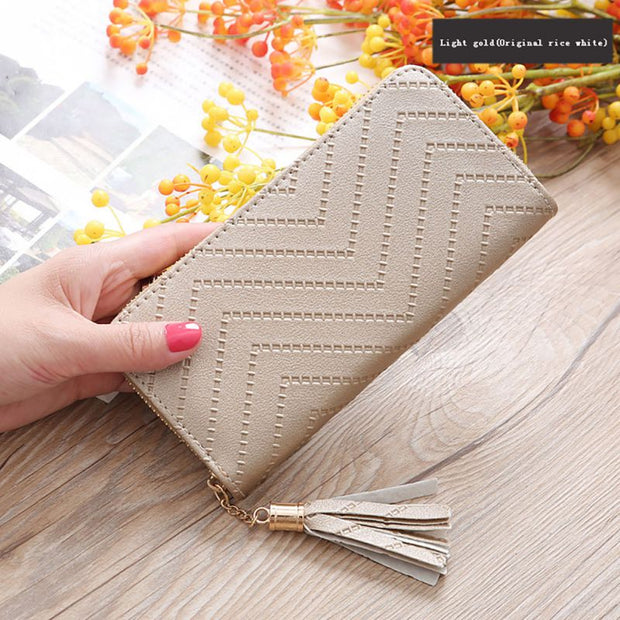 Wristband Women PU Leather Clutch Wallet Large Capacity Long Wallets Fashion Female Purse Phone Pocket Card Holder Carteras