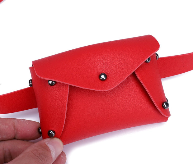 Waist Leg Bag Women Fashion Style Mini Pure Color Design Leather Material Messenger Solid Design Chest Bagsac Banana #