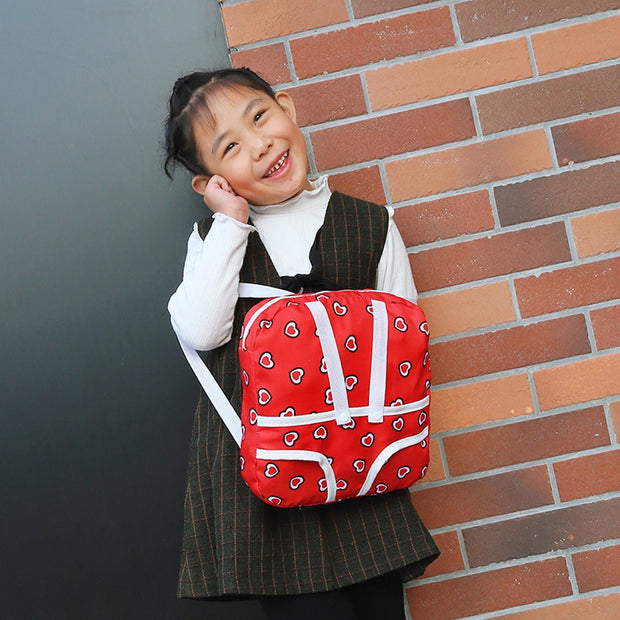 Xiniu New Lovely Backpack For Children Multifunction Heart Print Shoulder Bag With Toy Doll Brand Canvas Luxury Bag 2019