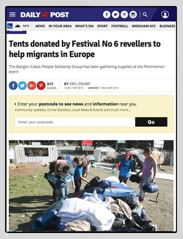 Dr Zigs Co-ordinating Volunteers To Help Refugees in France