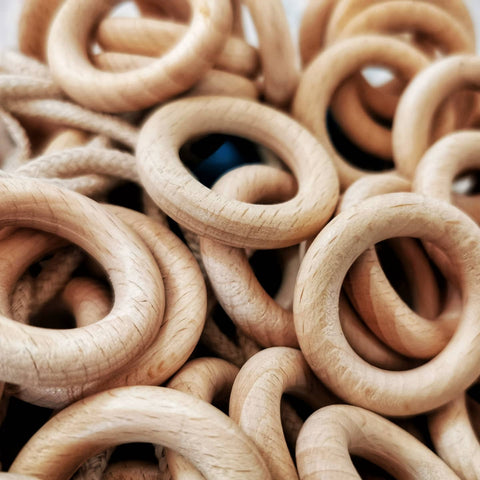 Dr Zigs wooden rings that have replaced our plastic rings on our giant bubble ropes