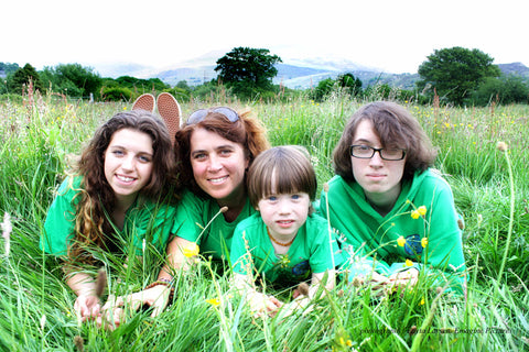 Paola, Gatto, Branwen and Ziggy Dyboski-Bryant back in 2013, mother in business and great kids, outdoor kids, Snowdonia