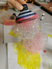 Bubble Foamer ready for painting with our Dr Zigs indoor Bubble Painting Kit great for messy play and crafting