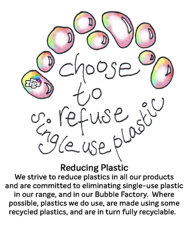 Choose to refuse single use plastic. Working against plastic pollution, offering alternatives, reducing plastic.