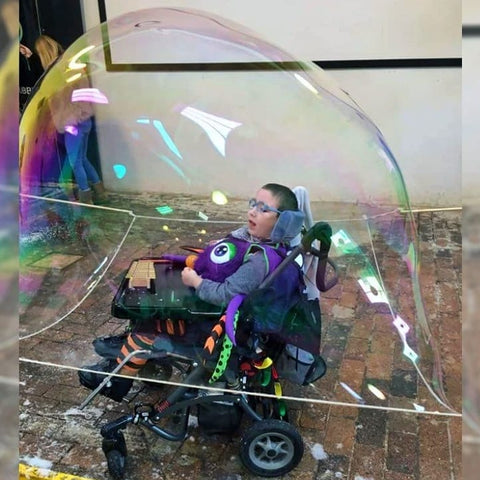 over the head in a bubble kit accessible wheelchairs