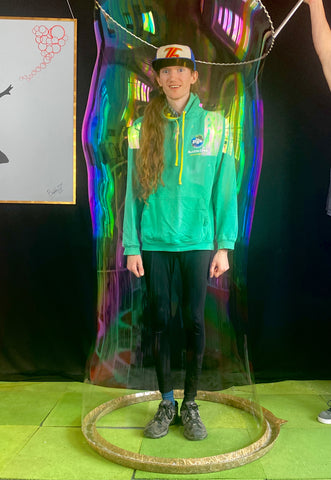 In - A - Bubble kit great for parties our kids and adults inside a giant bubble