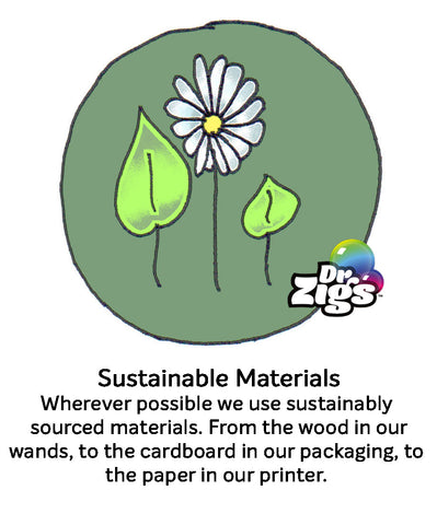 Sustainable Materials logo, wood, paper. Ecofriendly, ethical business, Award winning sustainability
