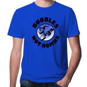 Bubbles Not Bombs T-shirt - Dr Zigs Giant Bubbles