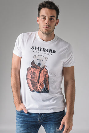 T-shirt Umberto Polar Bear - White