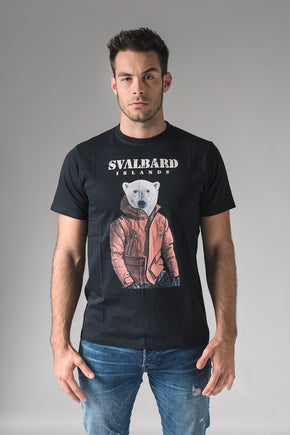 T-shirt Umberto Polar Bear - Black