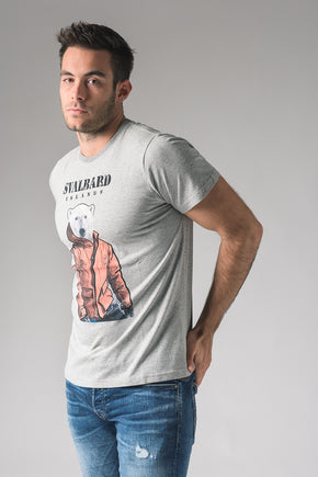 T-shirt Umberto Polar Bear - Pearl Grey