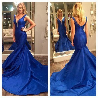 V-Neck Backless New Style Sexy Open Back Formal Lace Party Dresses JS831
