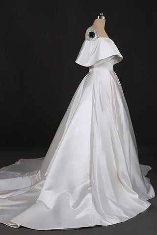 Stunning Off the Shoulder Strapless Ball Gown Long Wedding Dresses, Wedding Gowns SSM15440